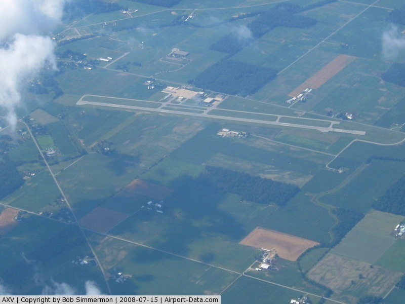 Neil Armstrong Airport (AXV) - Lookng NW from 11,500'