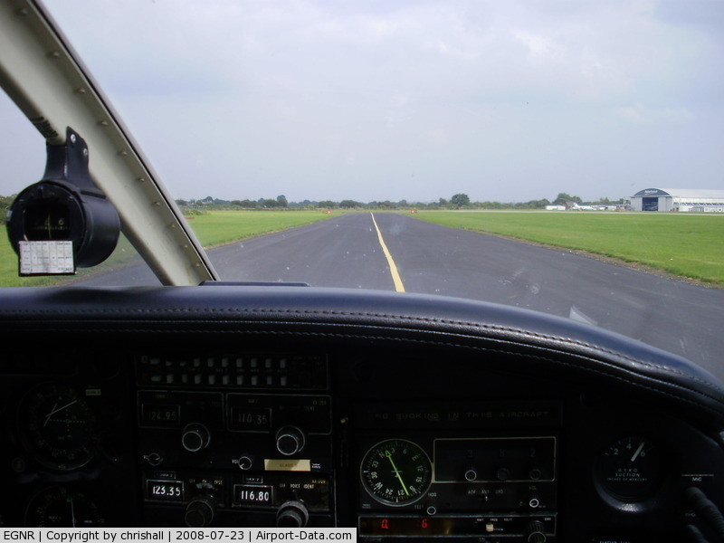 Hawarden Airport, Chester, England United Kingdom (EGNR) - on the taxiway