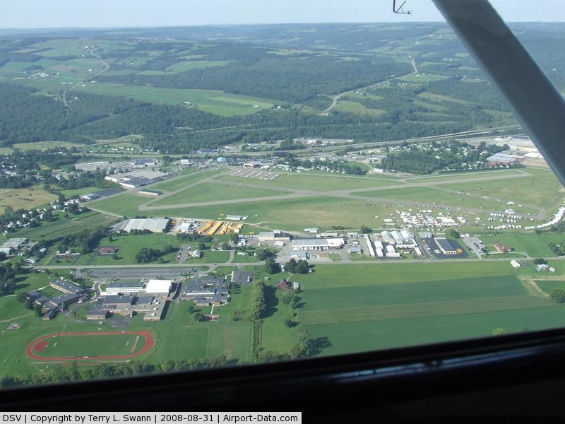 Dansville Municipal Airport (DSV) - On downwind at Dansville, NY.