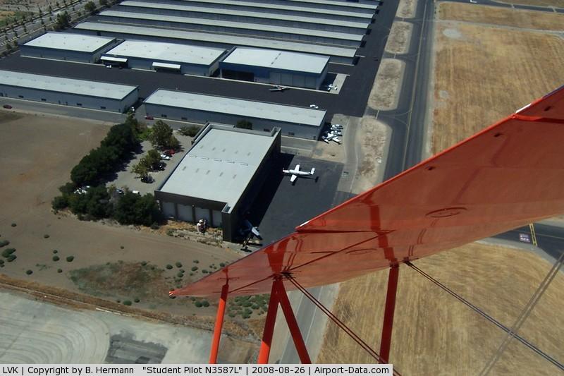 Livermore Municipal Airport (LVK) - Attitude Aviation ramp as seen from their