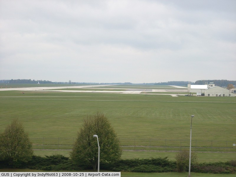 Grissom Arb Airport (GUS) - A view of the field from the 5-story tower near the museum.
