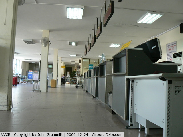 Cam Ranh Airport, Nha Trang Viet Nam (VVCR) - Interior of depature terminal. No staff to be seen.
