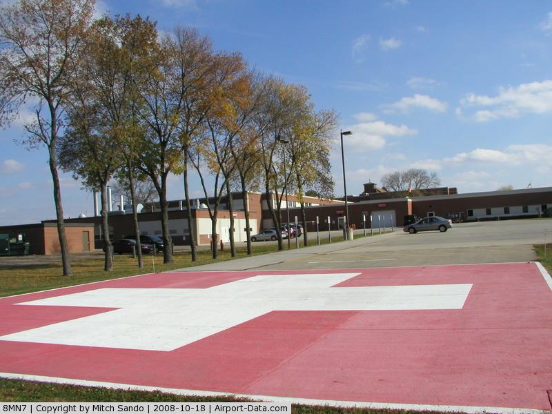 St Elizabeth Hospital Heliport (8MN7) - St. Elizabeth's Medical Center in Wabasha, MN.