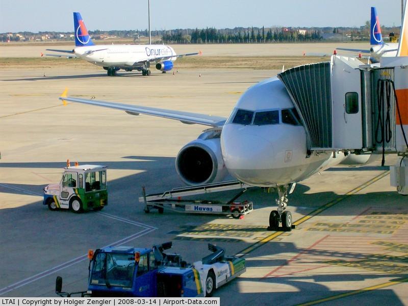 Antalya Airport, Antalya Turkey (LTAI) - View over turkish planes