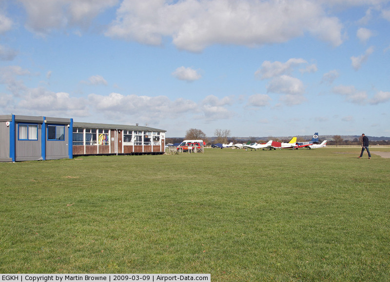 Lashenden/Headcorn Airport, Maidstone, England United Kingdom (EGKH) - View towards the airpark from the Museum