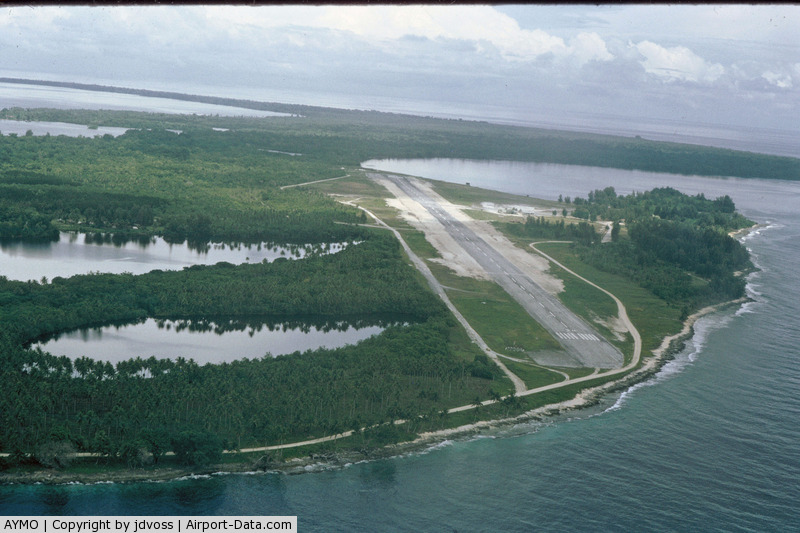 Momote Airport, Manus Island Papua New Guinea (AYMO) - Photographed from TAA DC-3. This field was a former USAAF B-24 base during WWII.