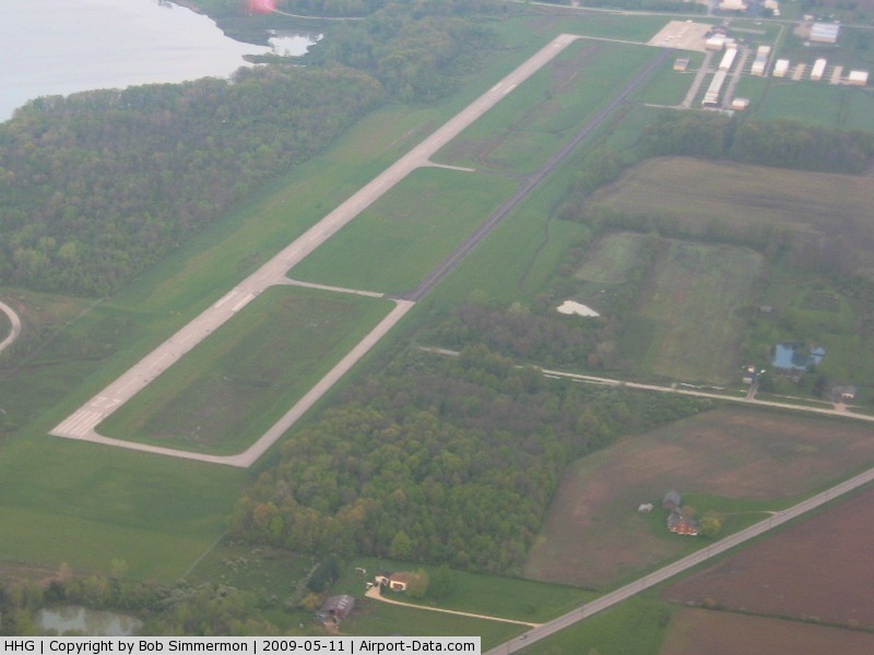 Huntington Municipal Airport (HHG) - View from the NE