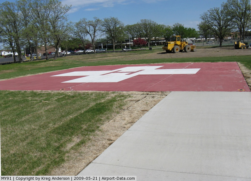 Douglas County Hospital Heliport (MY91) - Moved to a new location due to the addition to the DCH.