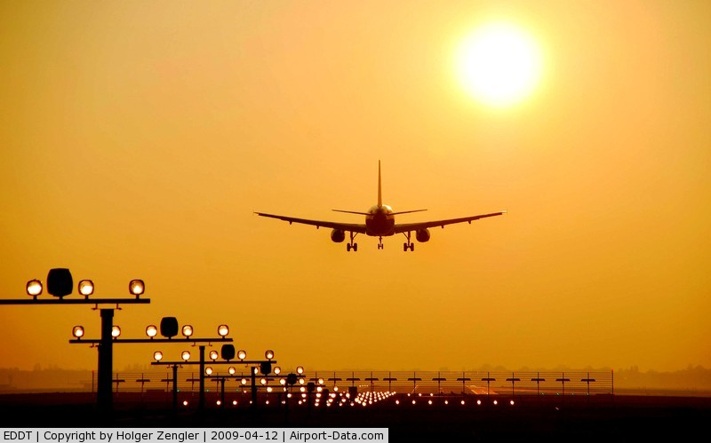 Tegel International Airport (closing in 2011), Berlin Germany (EDDT) - A quarter past sunrise at TXL
