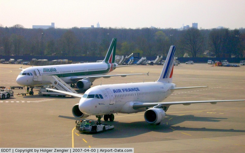 Tegel International Airport (closing in 2011), Berlin Germany (EDDT) - A moment of European colours