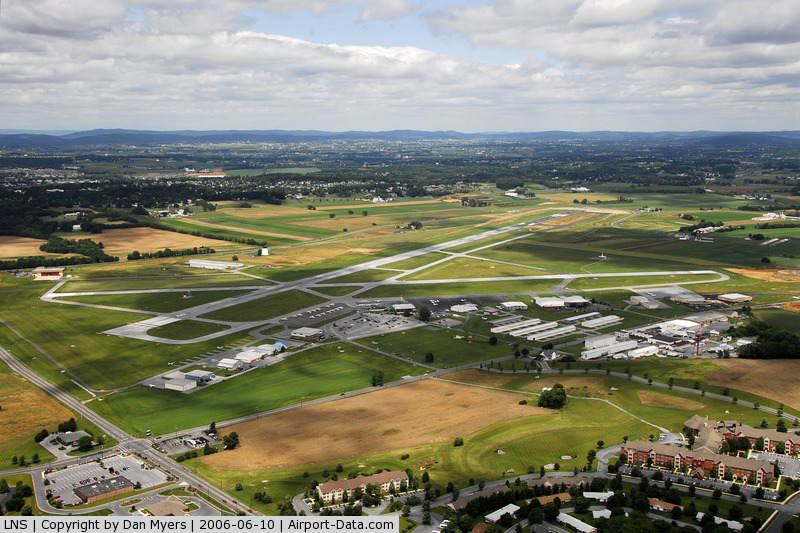 Lancaster Airport (LNS) - Aerial Shot from a helicopter