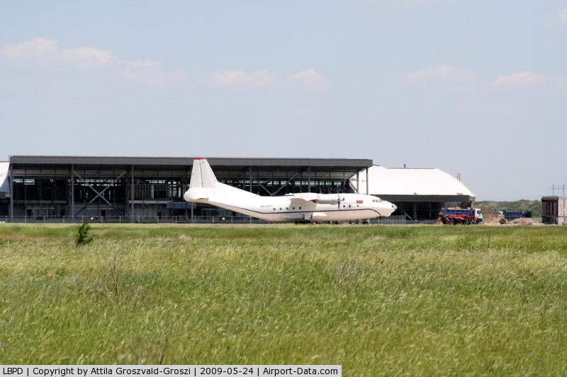 Plovdiv International Airport, Plovdiv Bulgaria (LBPD) - Plovdiv-Krumovo International Airport - LBPD - Before the building of the terminal under construction, the EW-269TI register Antonov An-12BP