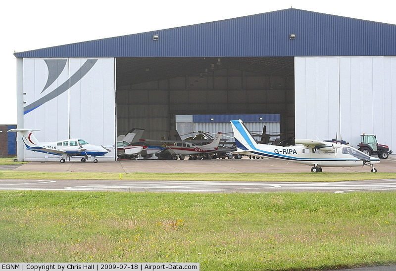 Leeds Bradford International Airport, West Yorkshire, England United Kingdom (EGNM) - GA hangar at Leeds Bradford Airport