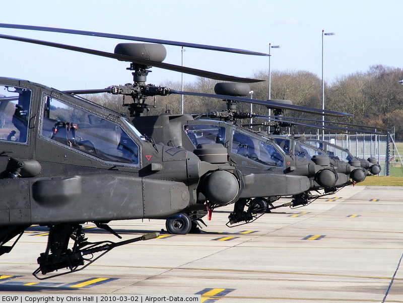 AAC Middle Wallop Airfield Airport, Andover, England United Kingdom (EGVP) - Army Air Corps Westland WAH-64 Apache AH1 673 Sqn