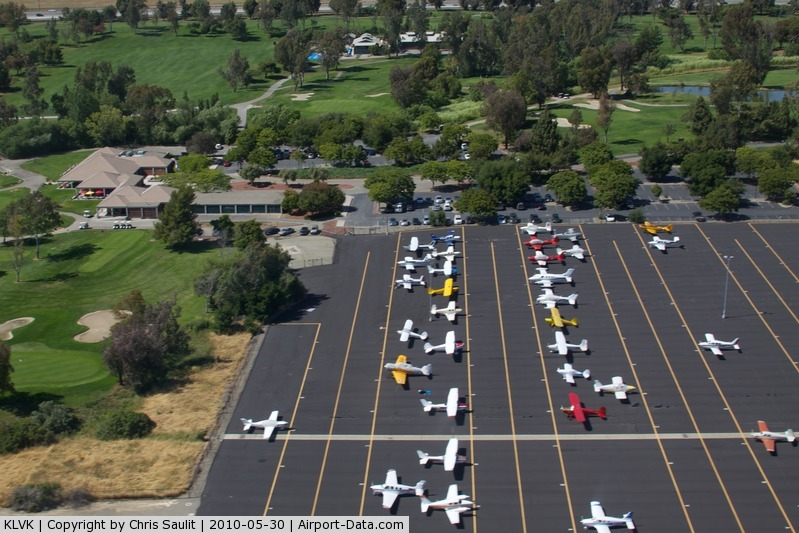 Livermore Municipal Airport (LVK) - The north west ramp at Livermore Municipal Airport (LVK).  The perfect place to fly into for a round of golf at Las Positas or a bite to eat at Beeb's Sports Bar & Grill.