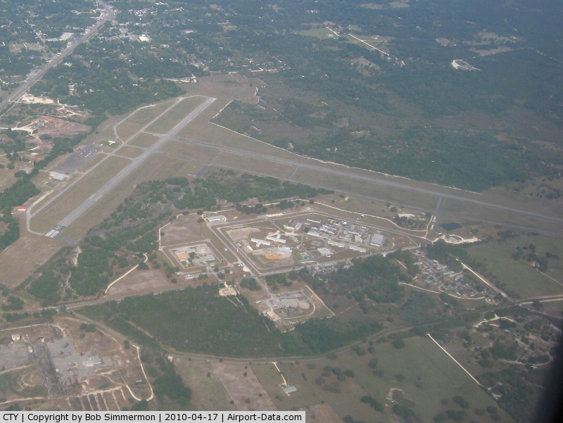 Cross City Airport (CTY) - Looking NW from 6500'