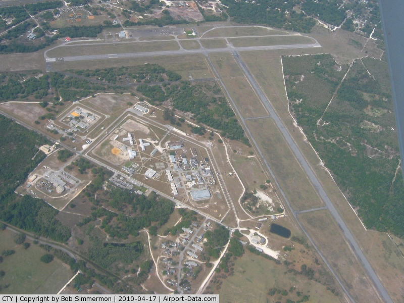 Cross City Airport (CTY) - Looking west from 6500'