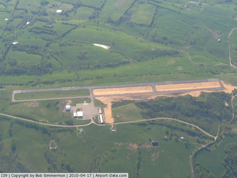 Madison Airport (I39) - Looking west - new taxiway project.