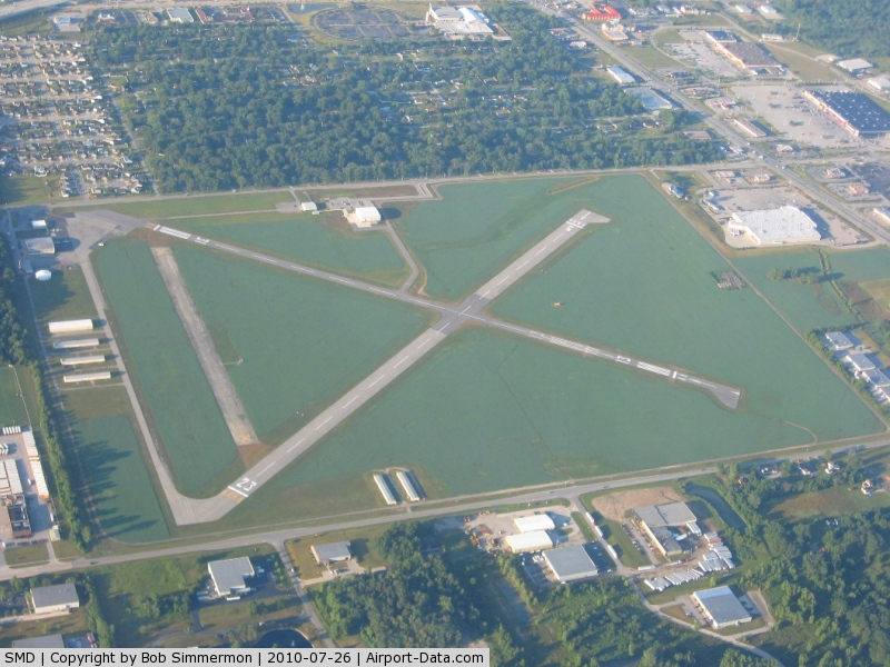 Smith Field Airport (SMD) - Looking SSW, all projects are done.