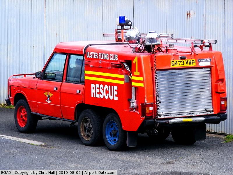 Newtownards Airport, Newtownards, Northern Ireland United Kingdom (EGAD) - Fire Truck at Newtownards Airport