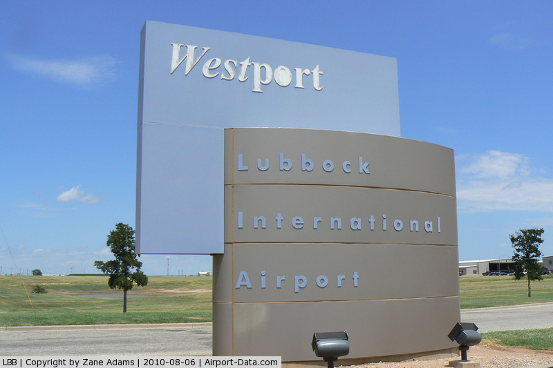 Lubbock Preston Smith International Airport (LBB) - West side entrance at the Lubbock International Airport