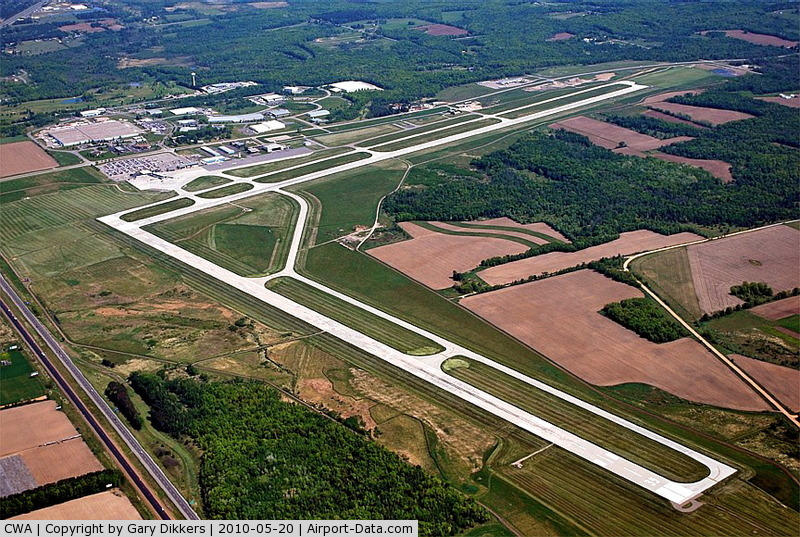 Central Wisconsin Airport (CWA) - CWA ~ Looking from southwest to northeast
