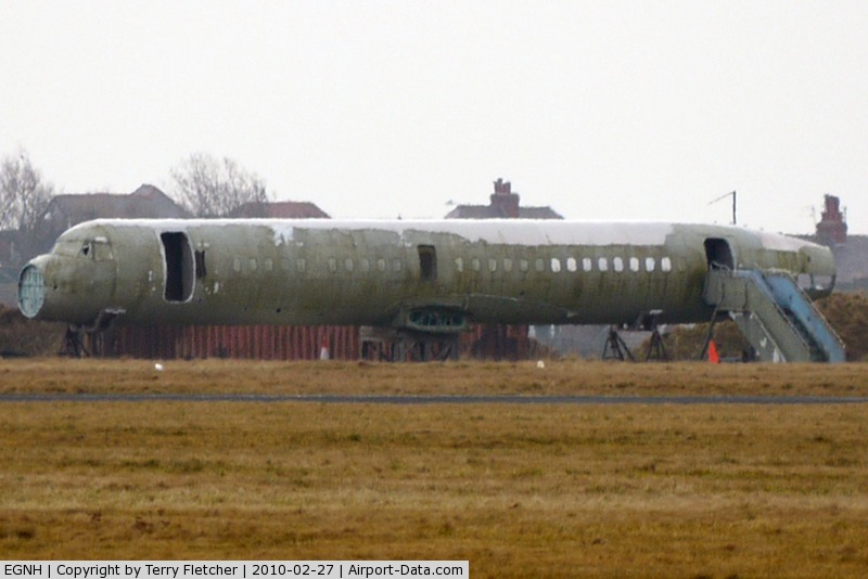 Blackpool International Airport, Blackpool, England United Kingdom (EGNH) - This ATP fuselage was never converted to a full aircraft  and now lies in the centre of Blackpool Airport