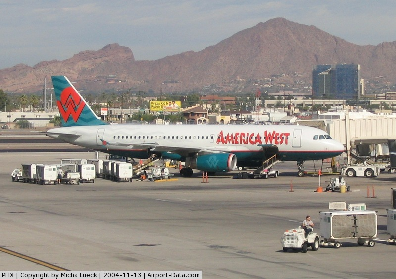 Phoenix Sky Harbor International Airport (PHX) - A320 of America West in Phoenix