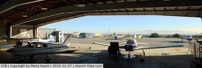Cable Airport (CCB) - Foothill Aircraft from the inside out.