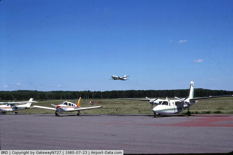 Brainerd Lakes Regional Airport (BRD) - Republic CV-580 N7743U departing.