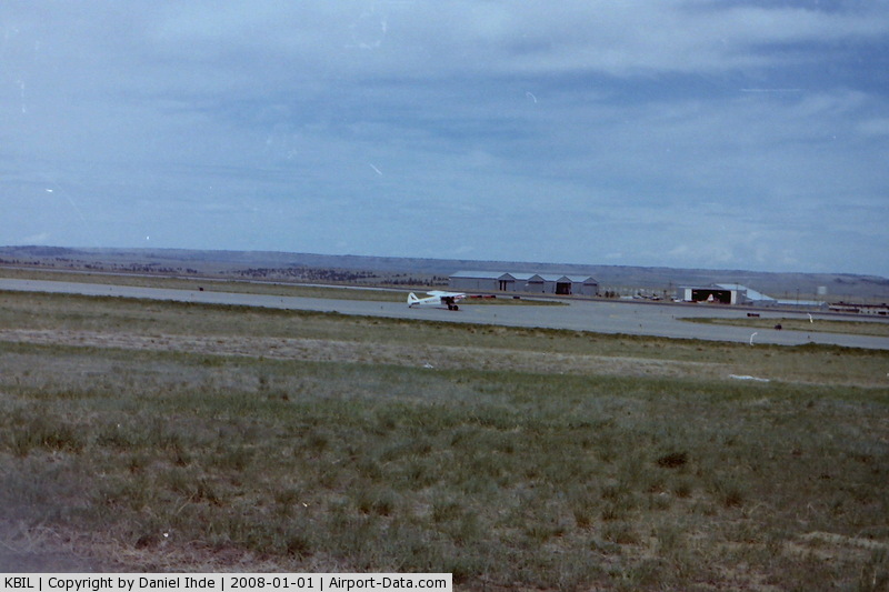 Billings Logan International Airport (BIL) - Piper Cub taxi's to 27R in June of 1981