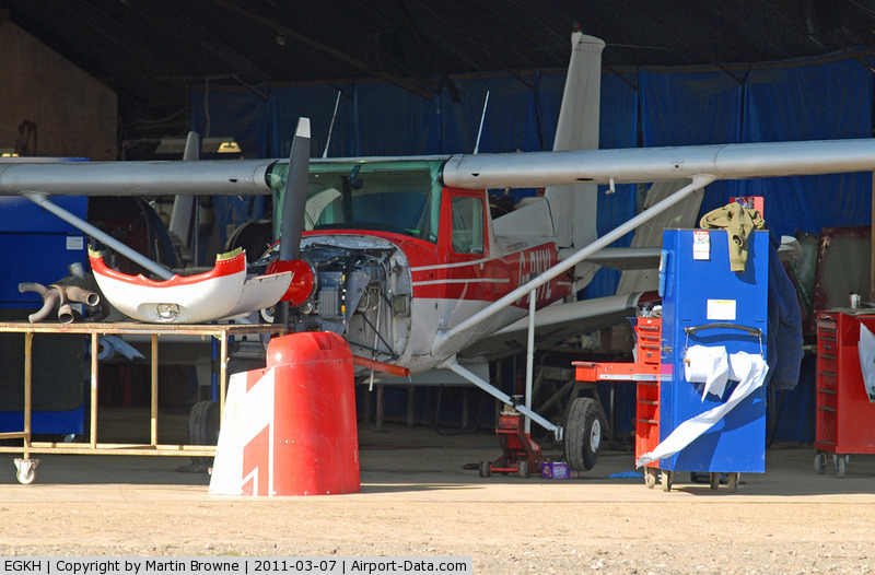 Lashenden/Headcorn Airport, Maidstone, England United Kingdom (EGKH) - CLOSE INTO THE HANGAR