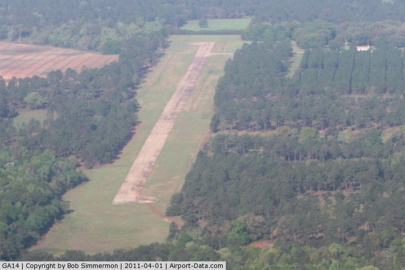 Pinebloom Plantation Airport (GA14) - Looking SW from 3000'
