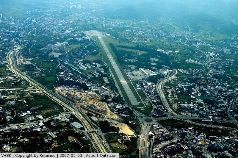Shek Kong Airfield Airport, Shek Kong Hong Kong (VHSK) - Overhead VHSK