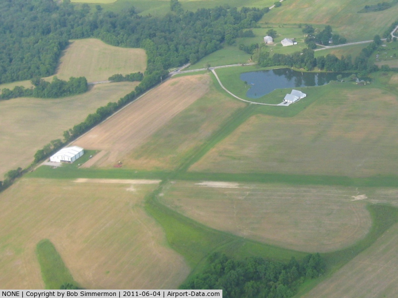NONE Airport - Looking SW at an uncharted strip 4.5 mi. E of New Washington, IN