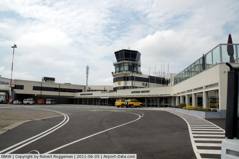 Antwerp International Airport, Antwerp / Deurne, Belgium Belgium (EBAW) - Controletower as seen from tarmac.