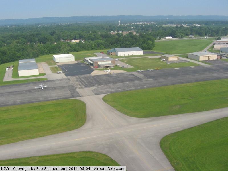 Clark Regional Airport (JVY) - Departing RWY 18, looking west.