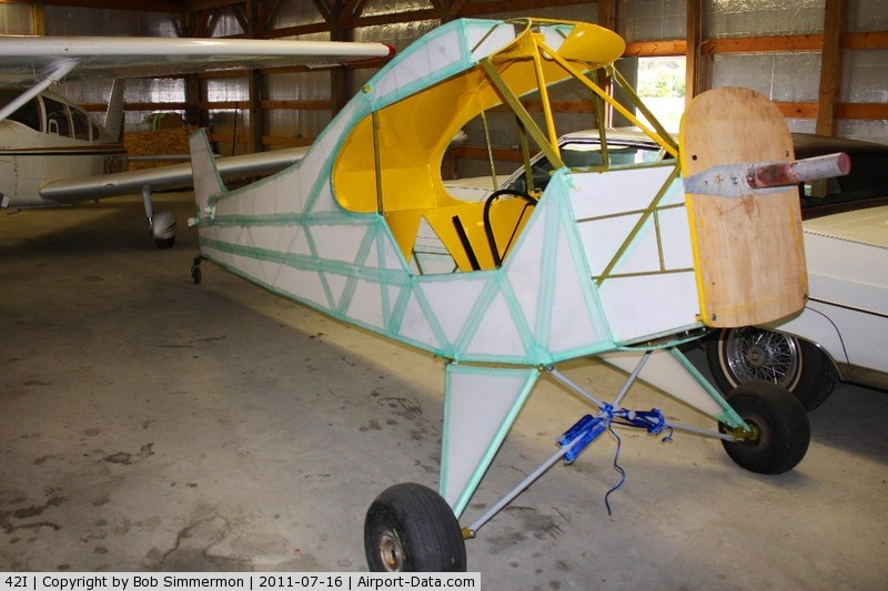 Parr Airport (42I) - Airport owner Chuck Norman showed us his Cub restoration while at the EAA fly-in.