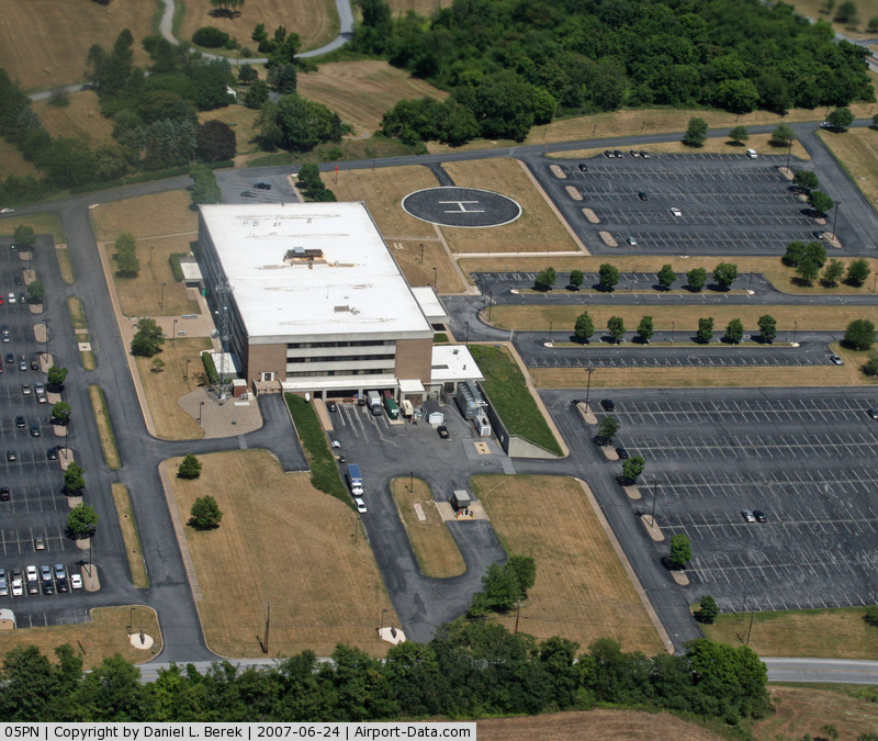 State Police Area Iii Heliport (05PN) - As viewed from a low-flying airplane.