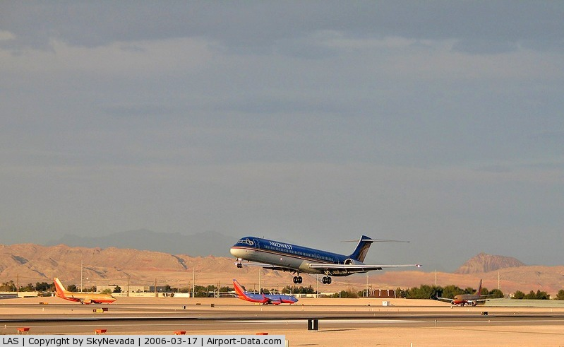 Mc Carran International Airport (LAS) - Midwest Airlines coming & Southwest going.