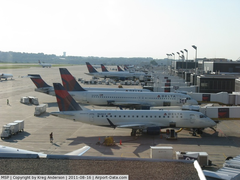 Minneapolis-st Paul Intl/wold-chamberlain Airport (MSP) - A view of Concourse C from the observation deck.
