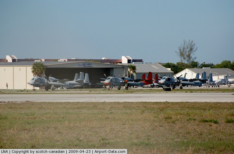 Palm Beach County Park Airport (LNA) - Grumman OV-1D's at Palm Beach County Park Airport, Lantana, FL