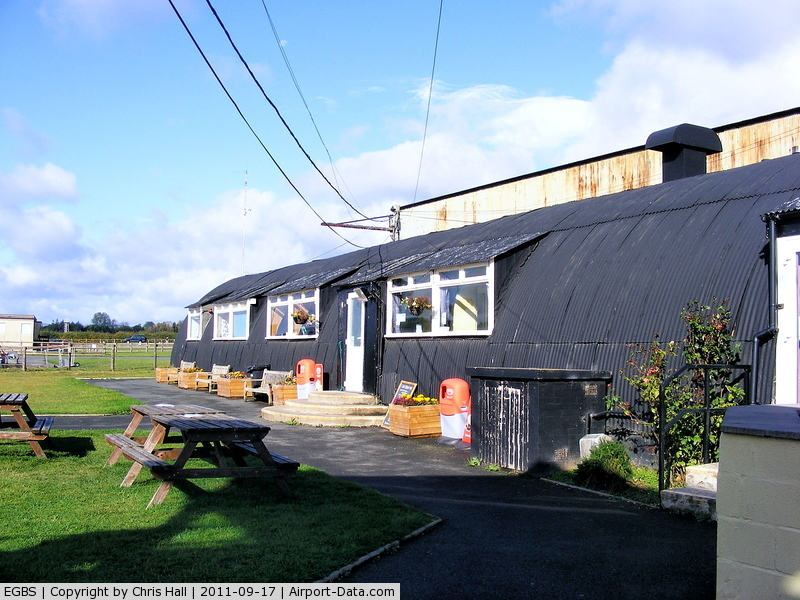 Shobdon Aerodrome Airport, Leominster, England United Kingdom (EGBS) - Club house and an excellent cafe at Shobdon
