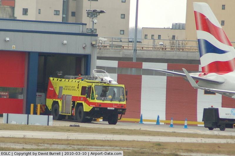 London City Airport, London, England United Kingdom (EGLC) - London City Fire & Rescue Service