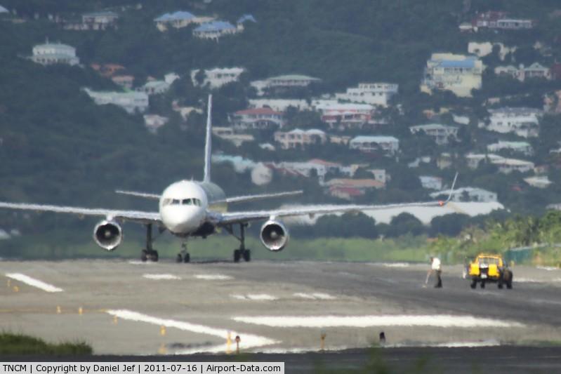 Princess Juliana International Airport, Philipsburg, Sint Maarten Netherlands Antilles (TNCM) - It's pick up dead animal time at TNCM runway 10