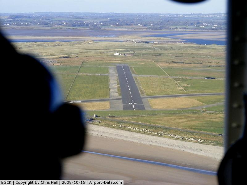 Caernarfon Airport, Caernarfon, Wales United Kingdom (EGCK) - on approach for R/W 02 at Caernarfon