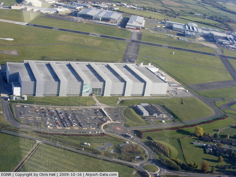 Hawarden Airport, Chester, England United Kingdom (EGNR) - Airbus A380 wing factory at Hawarden