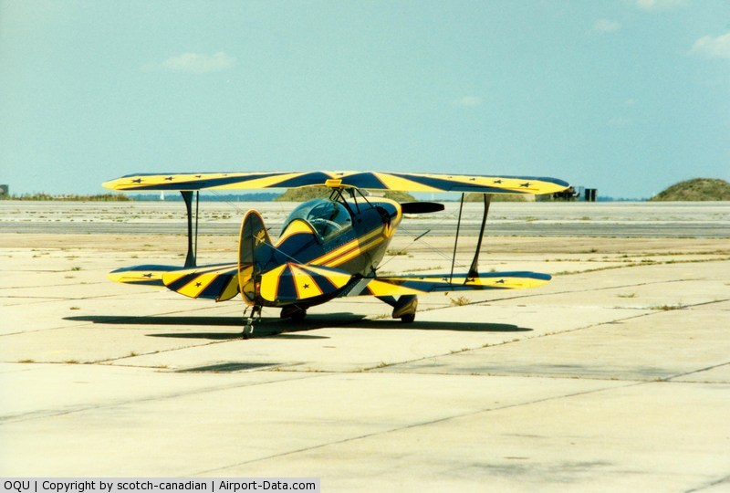Quonset State Airport (OQU) - Pitts S-2A at Quonset State Airport, North Kingstown, RI - circa 1980's
