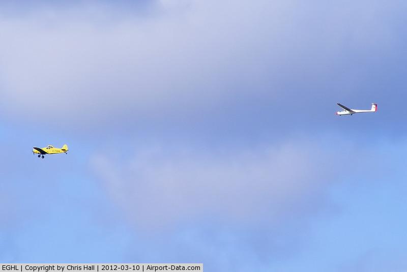 Lasham Airfield Airport, Basingstoke, England United Kingdom (EGHL) - airtow launch at Lasham