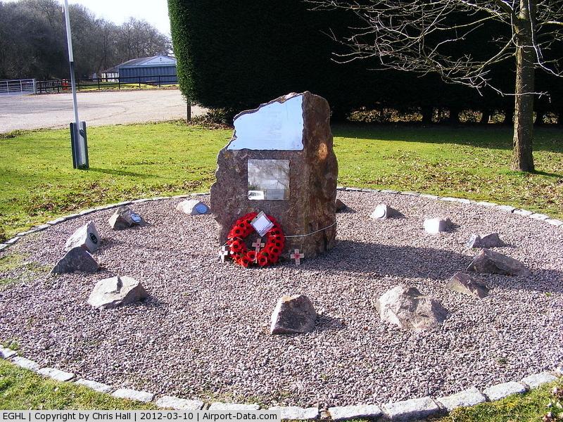 Lasham Airfield Airport, Basingstoke, England United Kingdom (EGHL) - memorial at Lasham